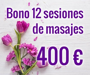 Bono 12 sesiones de masaje 400€