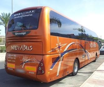 Excursiones nacionales o internacionales: Servicios de Autocares y Microbuses Nievabus