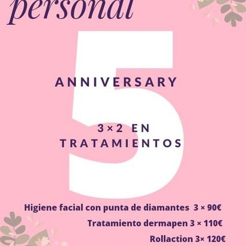 Aniversario 5 Años: Tratamientos de Espacio Personal