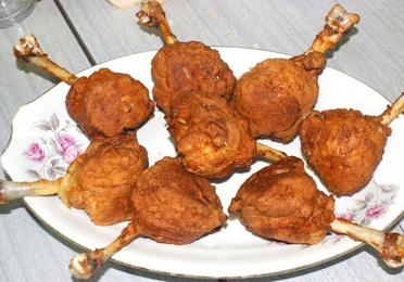 Bolitas de pollo frito