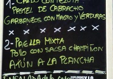 Menú diario en Franja Verde 2 y 3