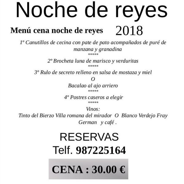 Cena dia reyes 2018