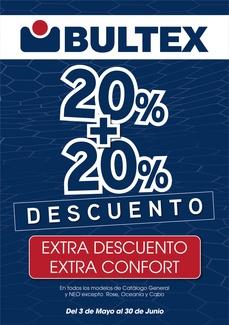 20% + 20% DE DESCUENTO EXTRACONFORT EN TU COLCHON BULTEX