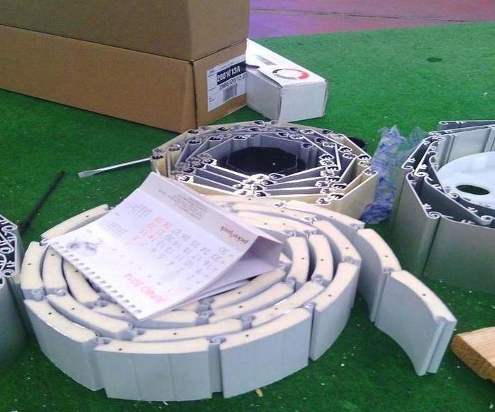 A55 Muestras de lamas de persianas de aluminio