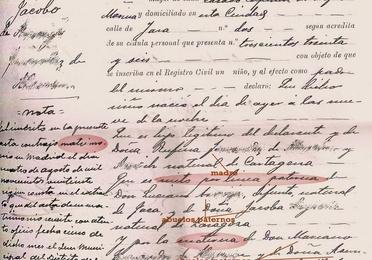Certificados de nacimiento/Birth Certificates