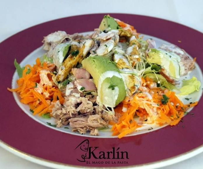 Ensaladas: Carta de El Mago Karlín Restaurante Melenara
