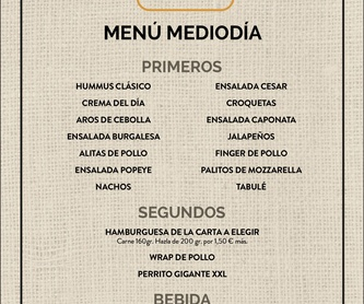Take away: Nuestra carta de New Tates BRGR