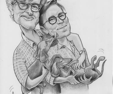 Dibujo para una pareja especial