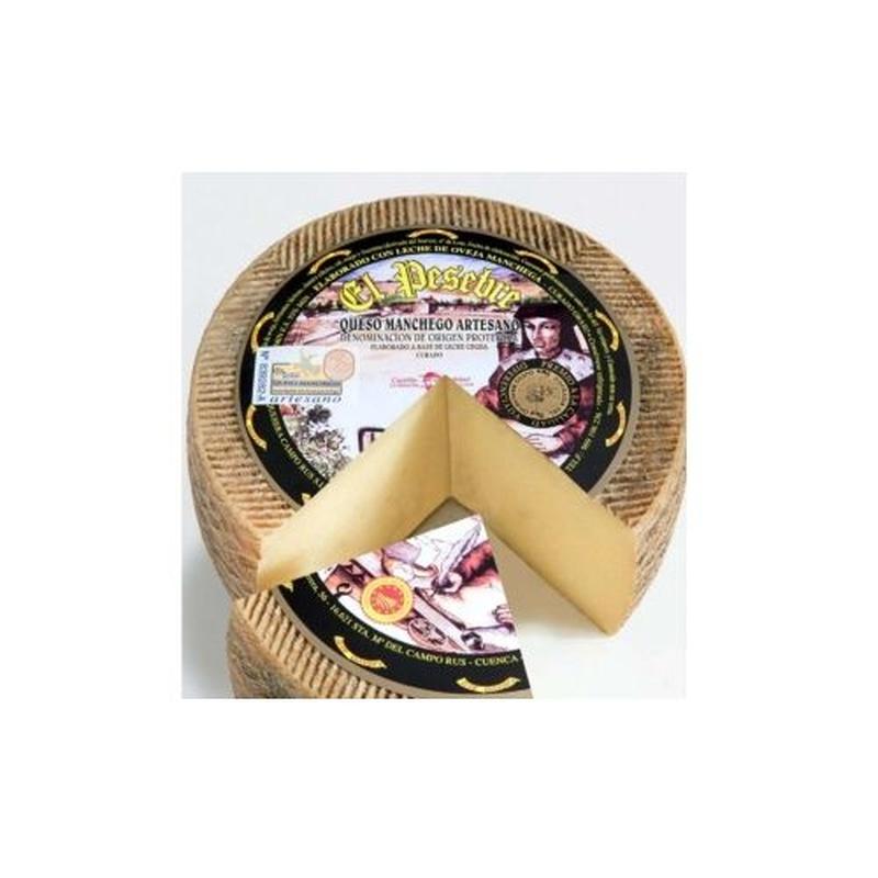 Queso artesano D.O. Manchego curado El Pesebre: Selección de productos de Jamonería Pata Negra