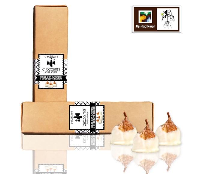Bombones de higo con almendra y chocolate blanco