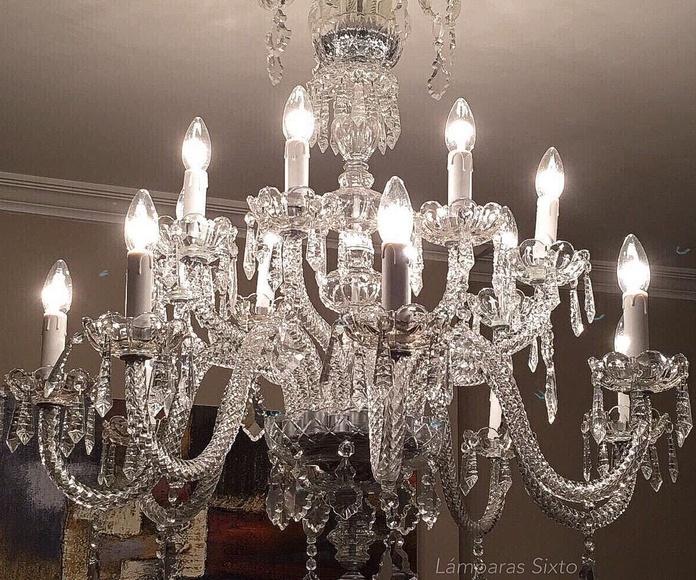 Lámpara de cristal 16 luces