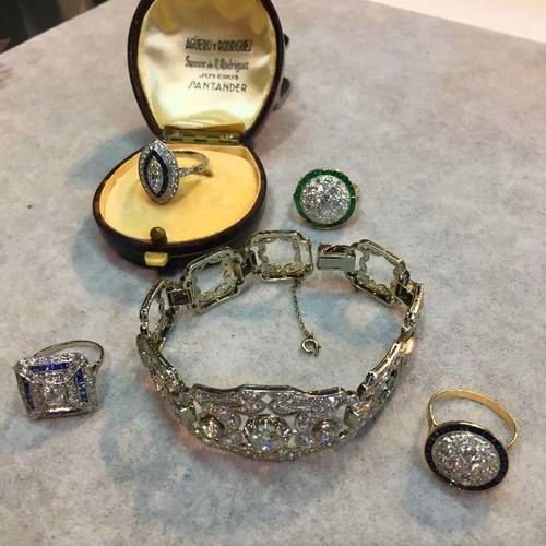 conjunto de joyas art-deco circa 1920
