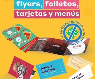 ¡Nuevo plastificado antibacteriano disponible en flyers, folletos, tarjetas y menús!
