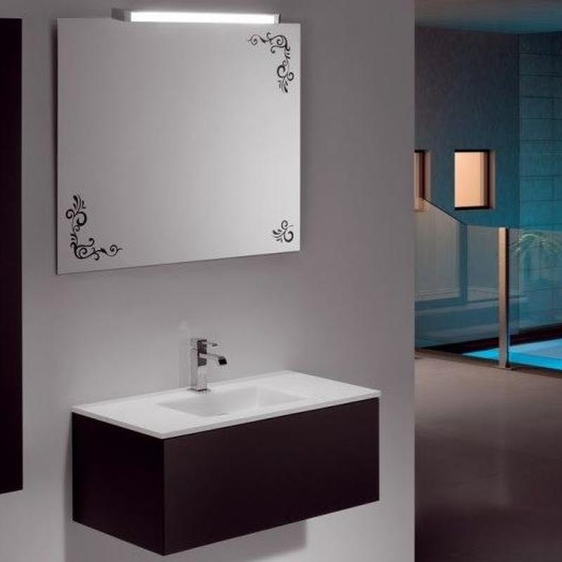 Mueble de baño Vidrebany colección Cube modelo Lacado