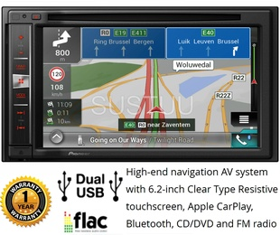 Radio doble din multimedia GPS Pioneer AVIC-F980BT
