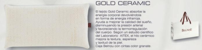 Almohada Gold Ceramic