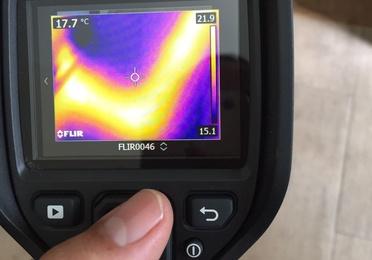 Localización de fugas con cámara térmica