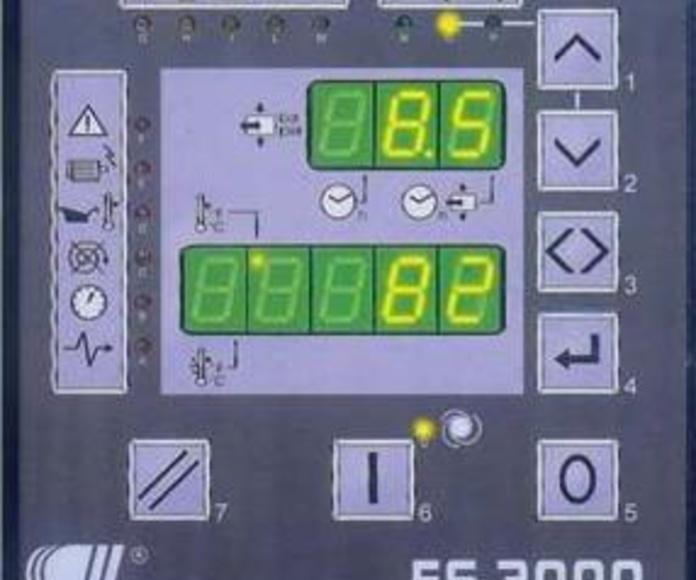 Compresores rotativos de tornillo modelo READY RTA-15/10-500S Control de mandos