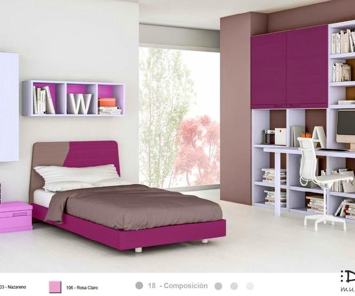 Dormitorio juvenil composición 18