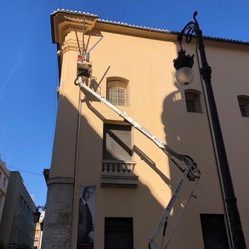 Instalación x Eurocanal en el Ayuntamiento de Valencia