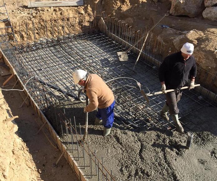 Trabajos de estructuras de hormigón