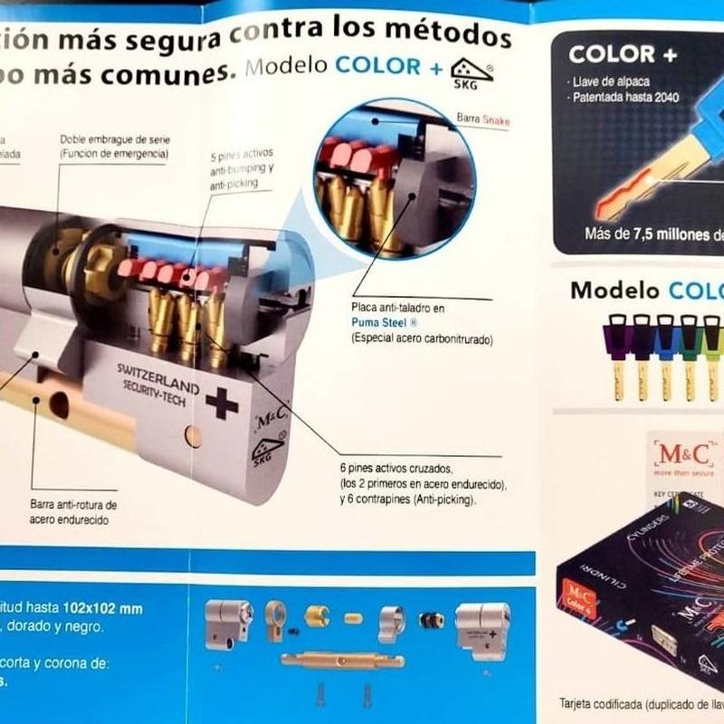 M&C Color + (Con Pomo Interior):  de EGS CERRAJEROS
