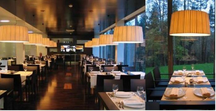 1.9pantallas cintadasA MEDIDA restaurante .(mas fotos): PRODUCTOS de El Búho | Iluminación en Barcelona