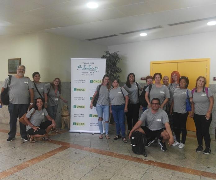 VISITA A LA ONCE: Proyectos y Servicios de Asociación Domitila