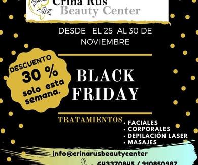 BLACK FRIDAY del 25-30 de noviembre