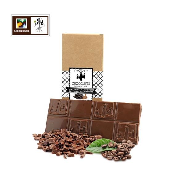 chocolate artesano con leche y café