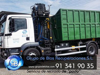 SERVICIOS GRUPO DE BLAS RECUPERACIONES,S.L.:Servicio de retirada de restos de poda y jardinería.