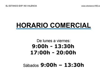 HORARIO COMERCIAL DESDE ENTRADA A FASE I