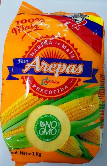 Harina para arepas amarillas 1 kg: PRODUCTOS de La Cabaña 5 continentes