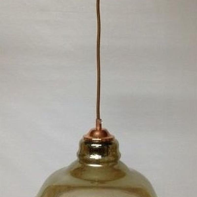 Lámpara colgante modelo 1400 fumé (con cobre)
