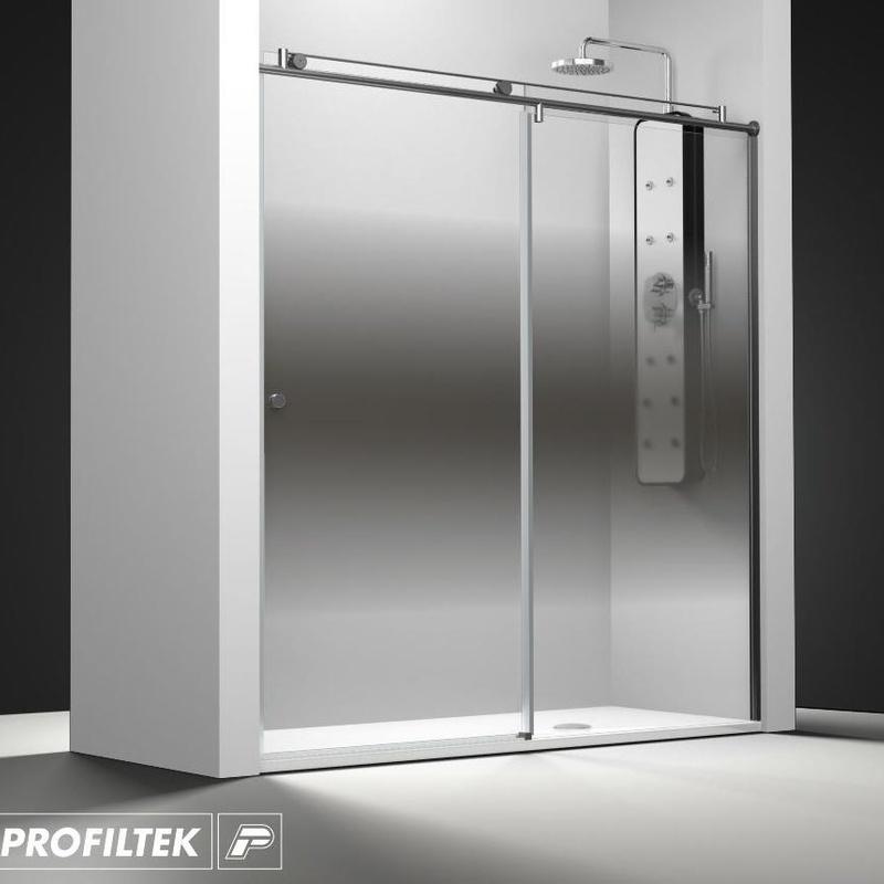 Mampara de baño Profiltek serie Steel modelo ST-210 Light decoración clasik
