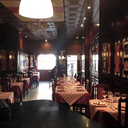 Interior del restaurante indio