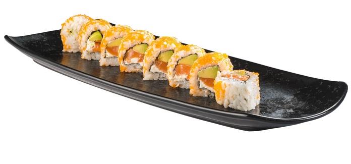 Masago salmón con queso (8u.)  6,80€: Carta de Restaurante Sowu