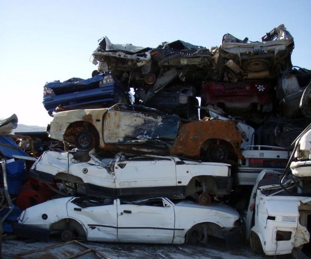 Tipos de residuos de los vehículos dados de baja