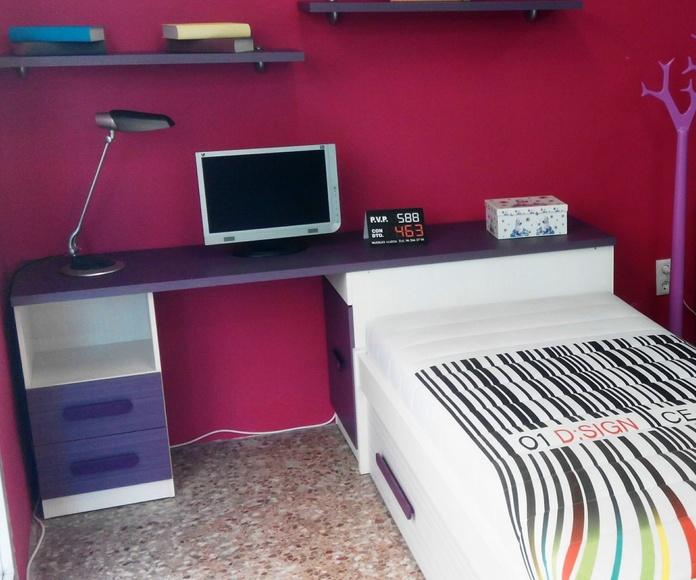 habitacion juvenil outlet: Productos  de Muebles Llueca, S. L.