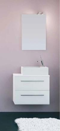 Mueble Pícola C28 de 1 puerta abatible + 1 cajón laca y tirador asa recta
