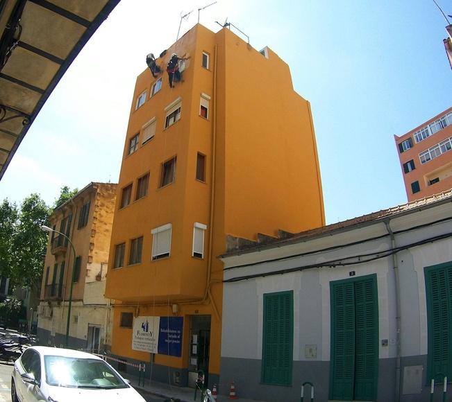 Final de obra pintado de fachada