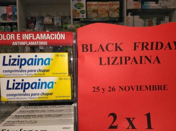 2 x 1 en lizipaina Black Friday Madrid