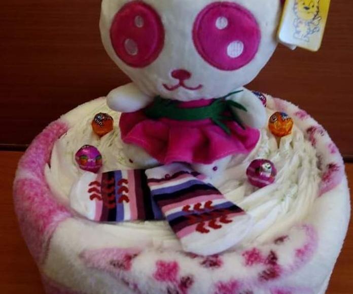 tarta pañales peluche Ferrol