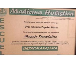Titulación para la técnica de masaje terapéutico