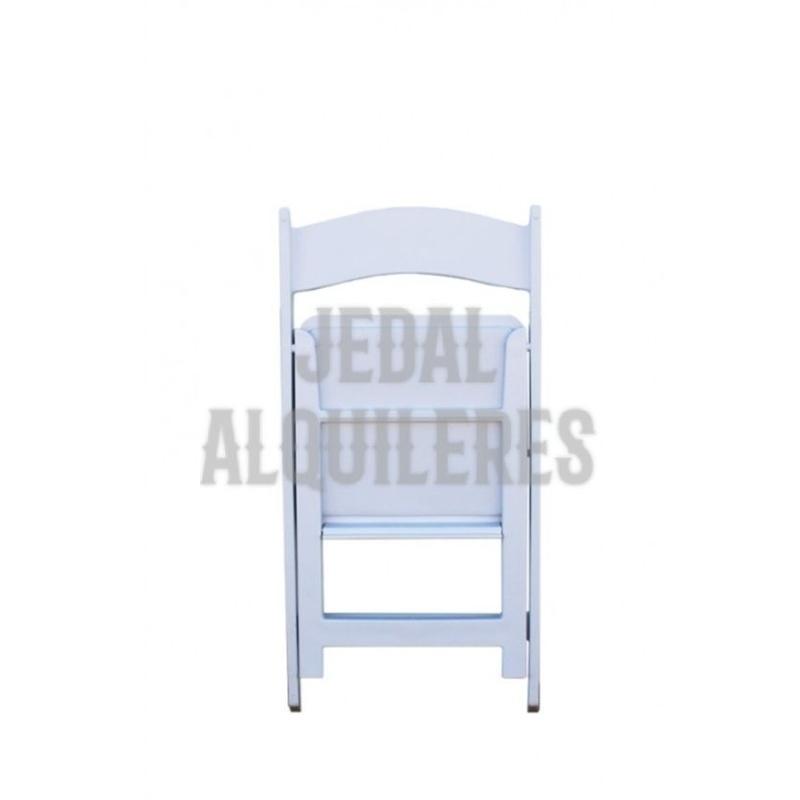 Silla plegable blanca americana: Catálogo de Jedal Alquileres