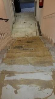 Pulido y abrillantado de escaleras y Hall de un Céntrico hotel de Madrid