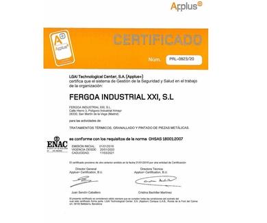 Certificado Apluss - Iso