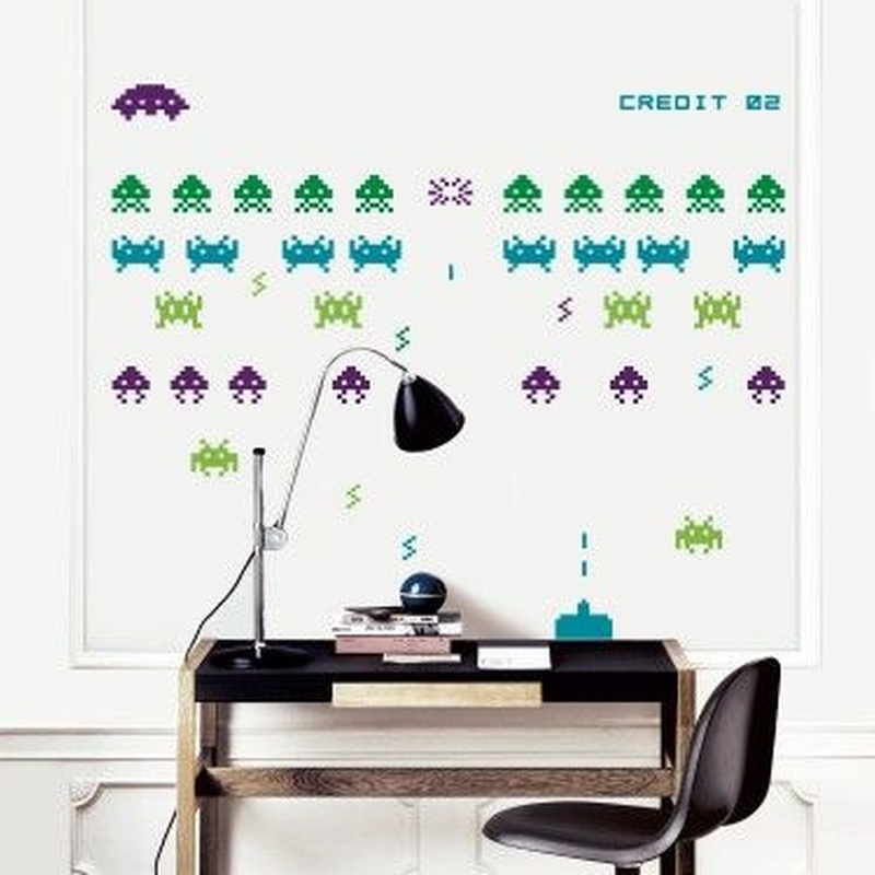 Wall sticker vinilo decorativo Invaders Attack en Barcelona
