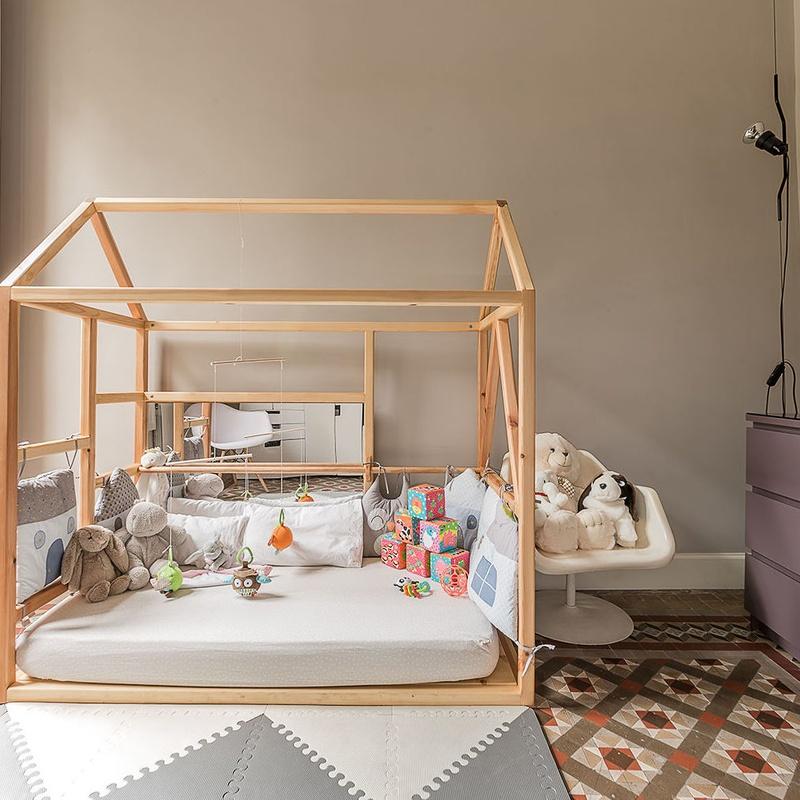 Diseño de cama Montesori infantil