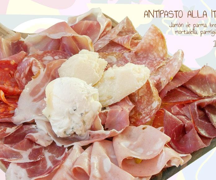 ANTIPASTI: Carta de Pizza Roma